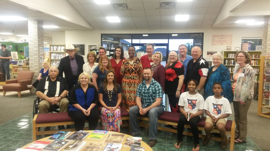 Local authors fill bookshelfs