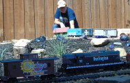 "All aboard: This railroad gardener says ""full steam ahead"""