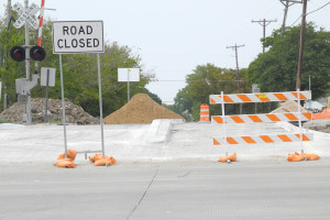 Quiet zone construction nears completion at the 3rd street intersection in Sachse.
