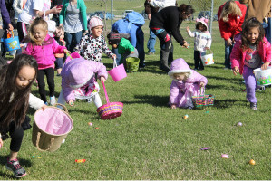 Cold temperatures Saturday morning, March 19 did not sway hundreds of children from enjoying the hunt for eggs at the annual  Easter Egg Scramble held at Heritage Park in Sachse.