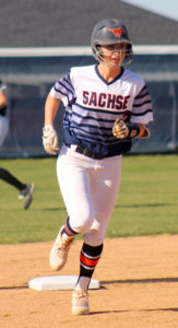 Greg Ford/C&SMediaTexas Sachse senior Shanna McBroom, here circling the bases after homering, was named the District 11-6A MVP.