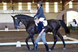Para equestrian rider Roxanne Trunnell with trainer Kai Handt of NTEC.