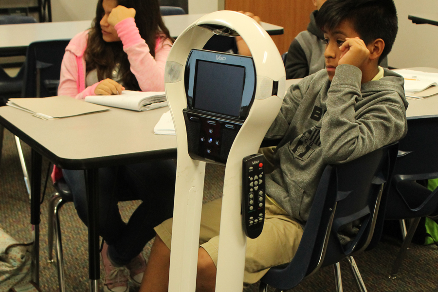 Robots aid homebound students