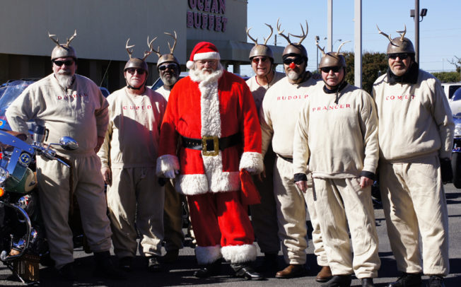 Santa, reindeer ride to collect toys