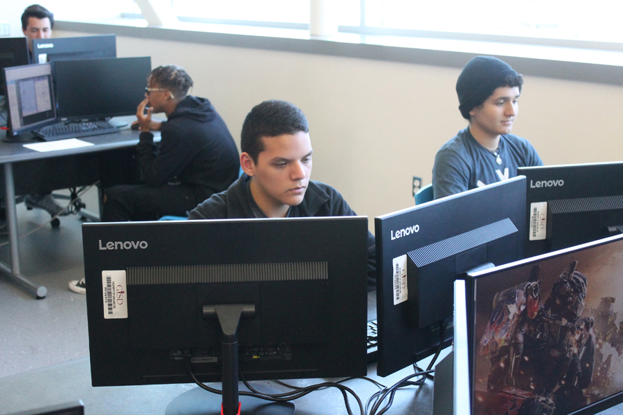 Students learn about cyber security