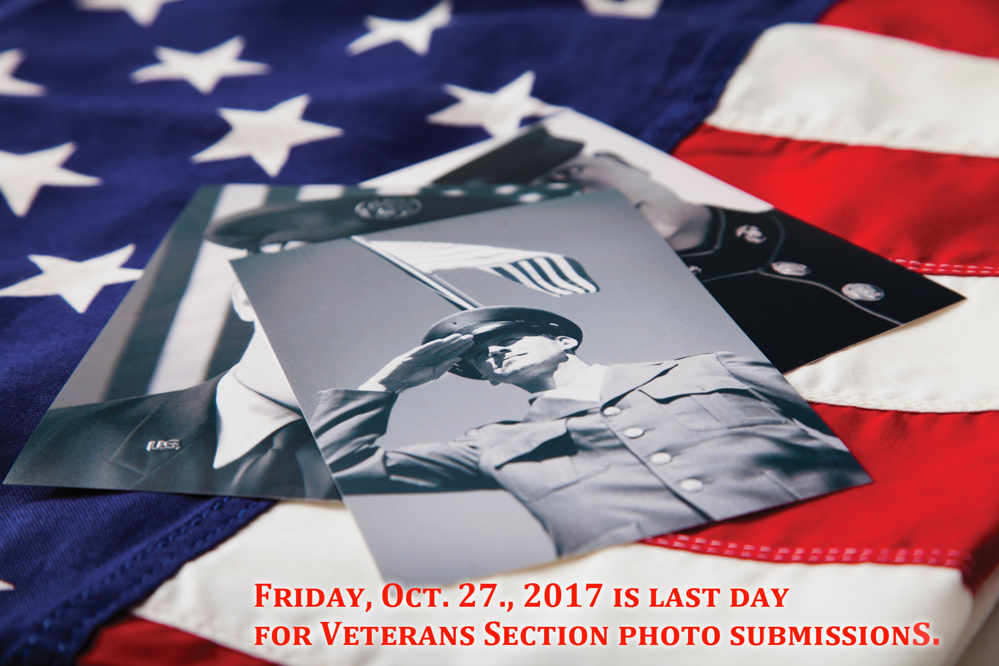Veteran Section photo submissions due by Friday