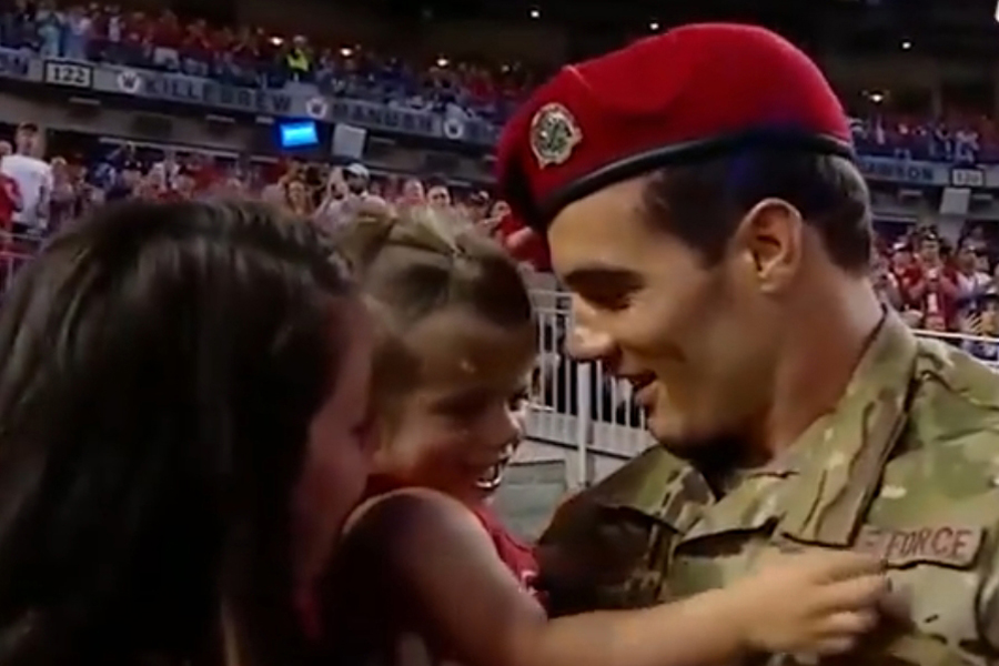 Air Force Sergeant, Sachse native celebrated at MLB game
