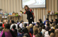 Children's author visits Sewell Elementary
