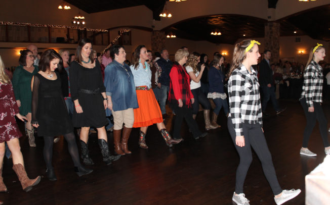 Gala guests learn to line dance