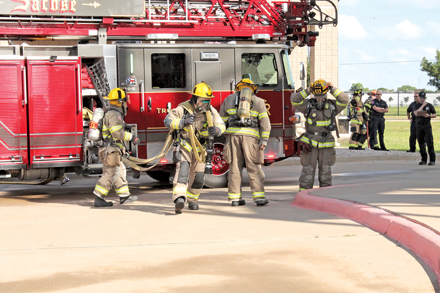 Firefighters practice mutual aid