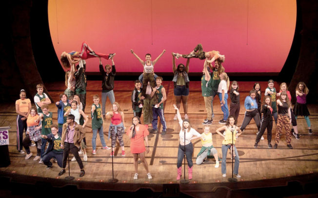 Local high school students perform on Broadway