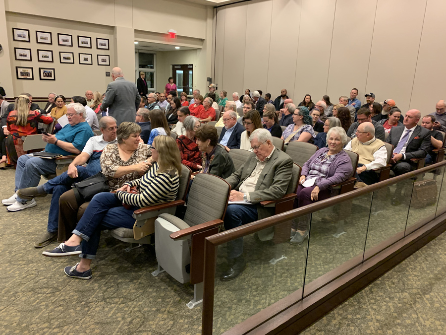 Rezoning request denied, hospital discussed