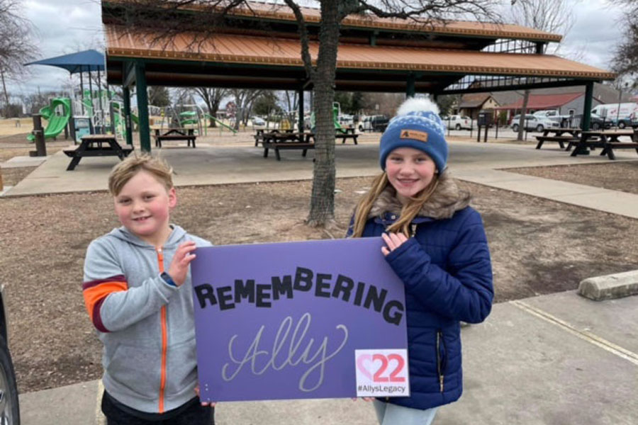 Students honor girl's memory with project