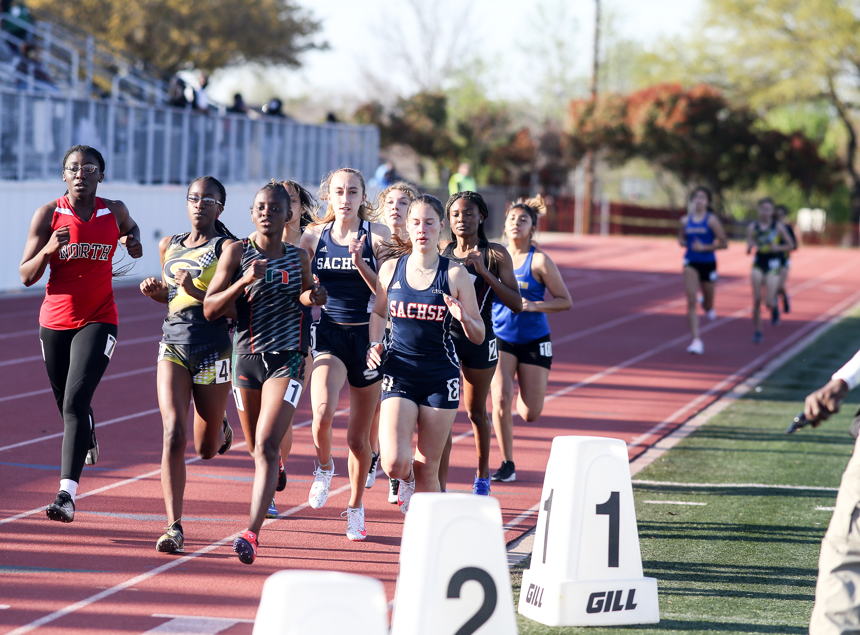 Sachse track teams finish second at district championships
